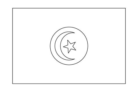 Tunisia Flag Coloring Page tunisia flag free coloring pages