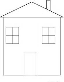 template of house house tracing cutting template enchantedlearning
