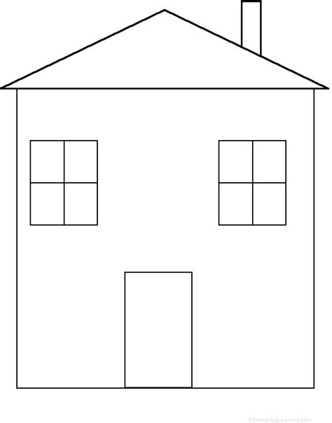 printable house template for house perimeter poem printable worksheet