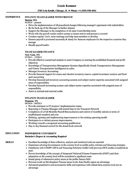 Leadership Resume Exles Resume Template Easy Http Www 123easyessays Com Team Lead Resume Template