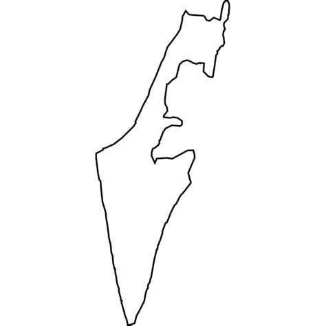 Free Outline Map Of Israel by Israel Vector Map At Vectorportal