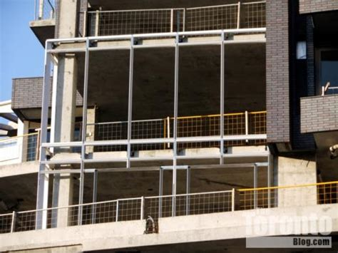 curtain wall toronto curtain wall frames installed on florian condo tower in