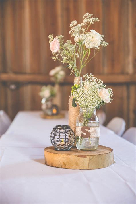 diy rustic chic wedding centerpieces rustic chic wedding by a photography planned in 3 months knotsvilla