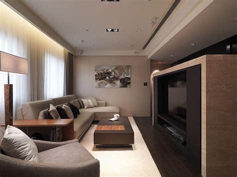 decorar salon estrecho y pequeño fotos de muebles de sala marron con crema