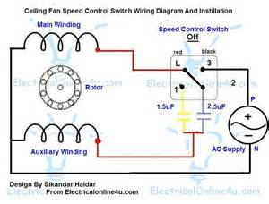 ceiling fan speed switch wiring diagram electrical 4u