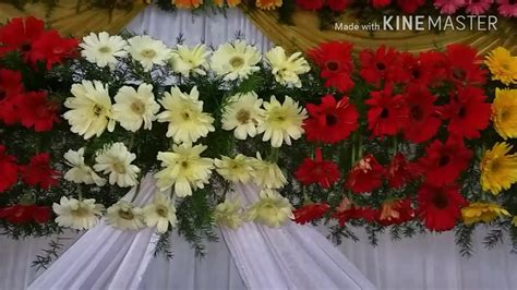 flowers decor marriage wedding flowers stage decoration video s youtube
