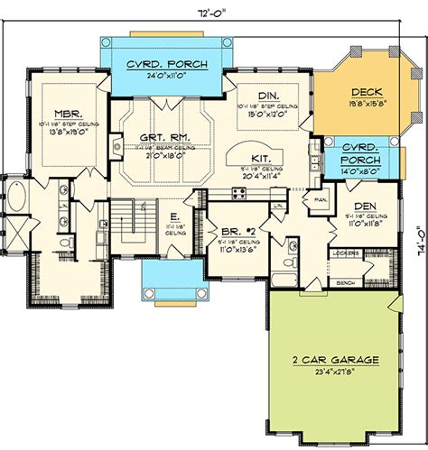 hip roof house plans 2 bedroom hip roof ranch home plan 89825ah