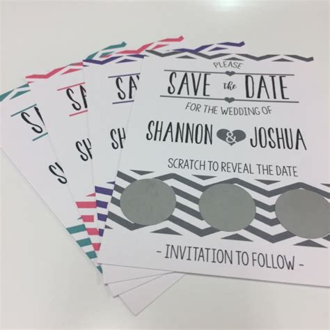 wedding save the date scratch cards uk save the date scratch cards reveal your date to guests real unique