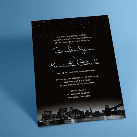 new york city skyline wedding invitations new york city skyline wedding invitations with