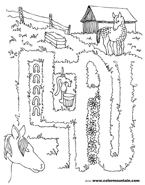 printable horse maze horse maze activity coloring picture create a printout