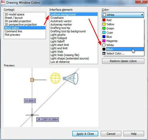 Layout Trong Autocad Là Gì   c 225 ch thay đổi m 224 u nền cho model layout block editor