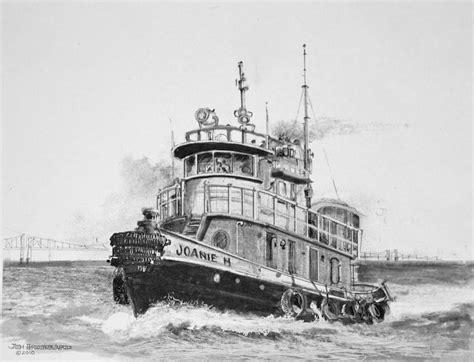 tugboat drawing tug boat drawing by jim hubbard