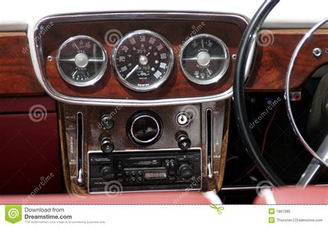 car dashboard vintage car dashboard stock image image of vehicle meter