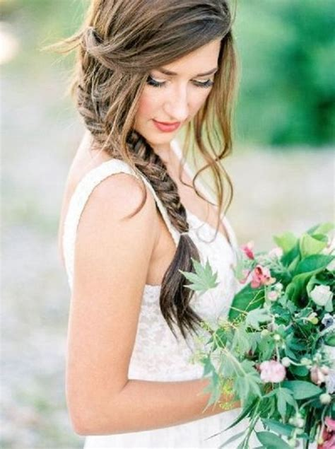 wedding hairstyles with side braid 27 casual wedding hair ideas happywedd