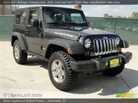 charcoal grey jeep rubicon dark charcoal pearl 2010 jeep wrangler rubicon 4x4