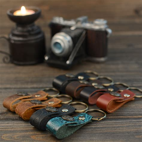 Handmade Ring Holder - leather key retro leather key ring holder handmade