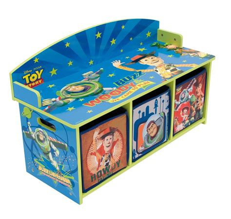 childrens toy box bench toy story children s 2 seat wooden bench toy storage