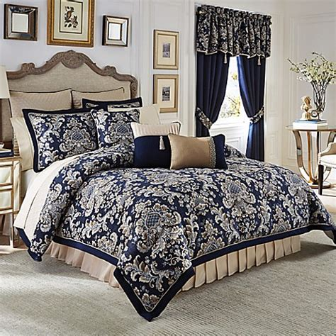 navy king comforter buy croscill 174 imperial reversible california king