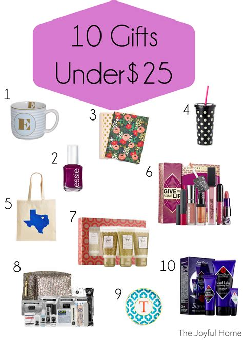 gifts under 25 10 gifts under 25 the joyful home