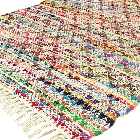 indian woven rugs 3 x 5 ft colorful rag rug chindi floor mat carpet tapestry indian woven ebay