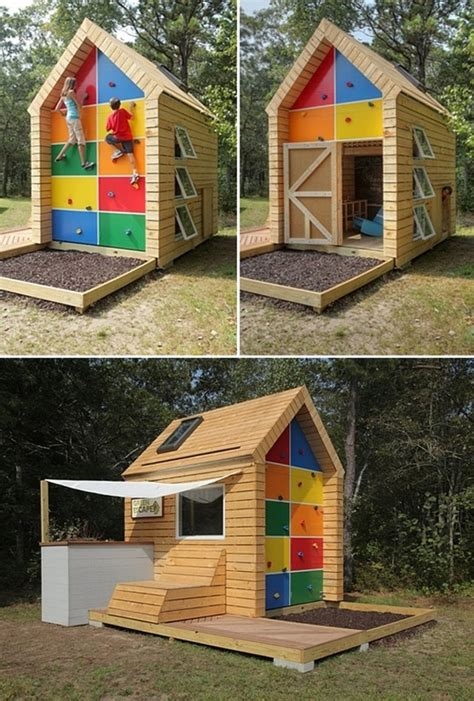 childrens outdoor playhouse plans free plans diy how to