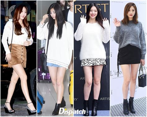 Annbaby 8 H Skirt Rok Korea k pop idols show the in korean fall fashion trends knitwear and skirts koreaboo