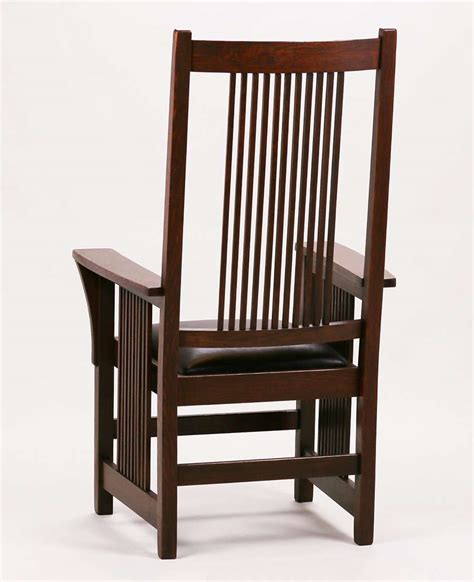gustav stickley spindled armchair california historical