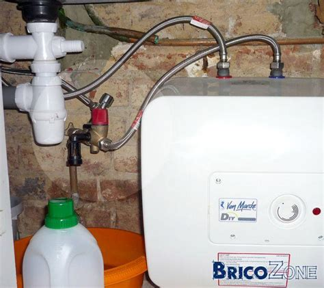 Comment Installer Un Chauffe Eau Electrique Sous Evier by Evacuation Groupe Secu Boiler 10l