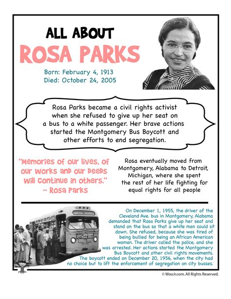 rosa parks biography for students csj coloring template woo jr kids activities