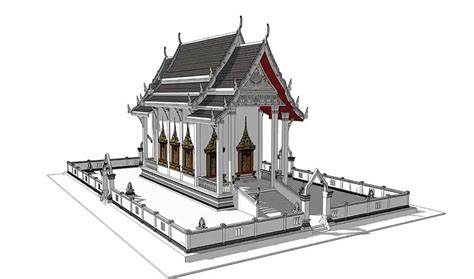 sketchup pro2015 how to create house model in 1 30 hour sketcup教程 创建泰国寺庙 caigle s blog 183 钟育才的博客