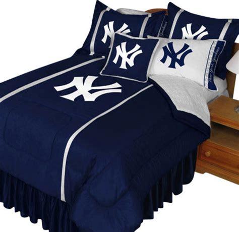 Mlb New York Yankees Queen Comforter Set Baseball Ny Logo