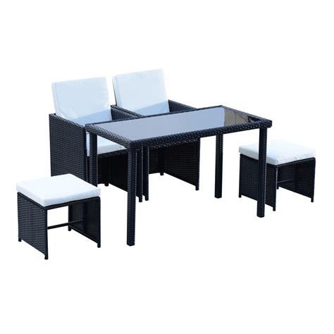 set da giardino rattan outsunny set mobili da giardino in pe rattan tavolo 2