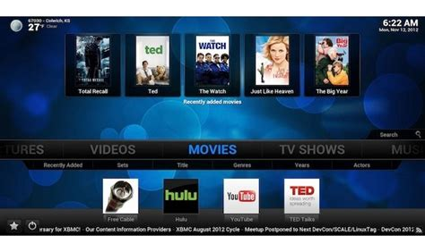 android xbmc xbmc 12 frodo launches in finished form with support for android live tv
