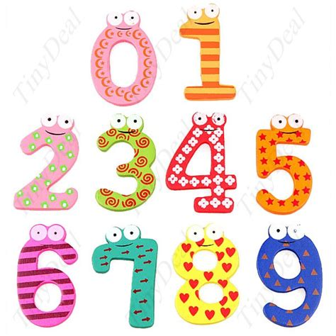magnetic wooden numbers for children fsn 13416 tinydeal