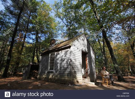 Thoreaus Cabin by A Replica Of Henry David Thoreau S Cabin At Walden Pond