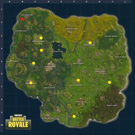 fortnite locations gas station locations anarchy acres treasure map