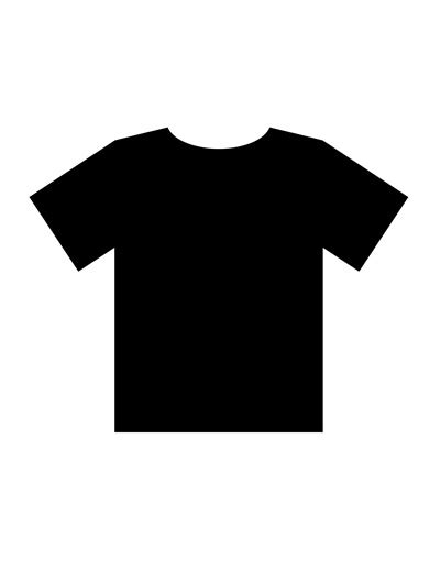 Blank T Shirt Templates Pdf Black T Shirt Template