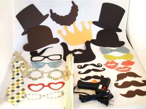 26 printable photo booth props moustache 26 piece photo props for diy events diy with glue gun