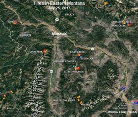 Montana Fire Map by A Dozen Large Wildfires Within 70 Miles Of Missoula