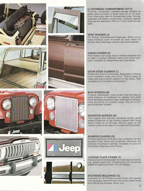 Jeep Accessories Catalog Image 1982 Jeep Accessories 1982 Jeep Accessories Catalog 06