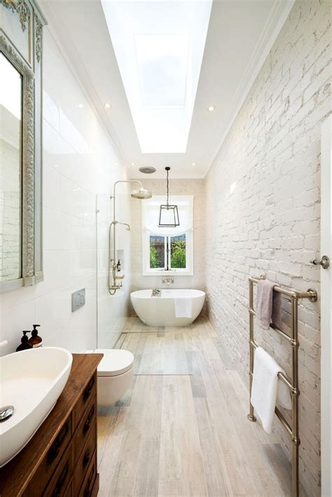 Narrow Bathroom Ideas by Wondrous Narrow Bathroom 65 Great Layout For A