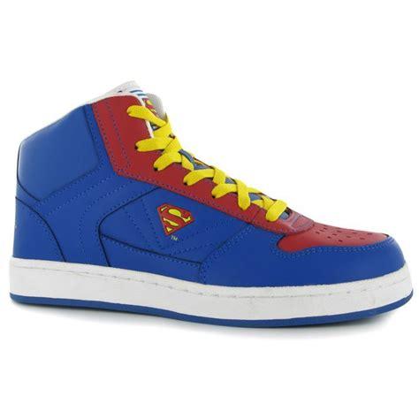 superman shoes superman mens trainers sports shoes footwear hi top lace