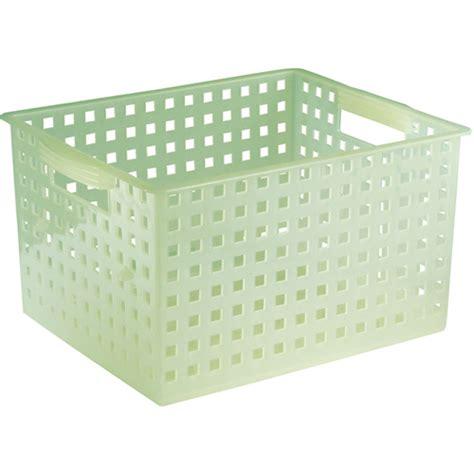 Storage Basket Green plastic storage basket aloe green in plastic baskets