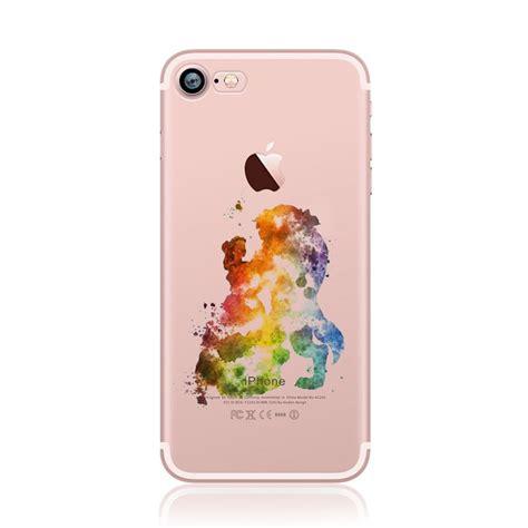 Tpu Jelly Disney watercolour disney character princess paint tpu gel back for iphone 8 7 6s ebay