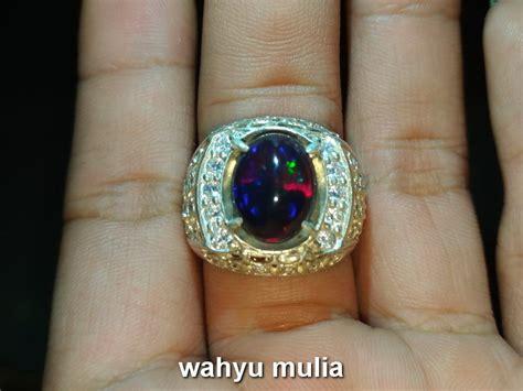Batu Cincin Black Oval Jarong batu kalimaya black opal jarong asli kode 741 wahyu mulia