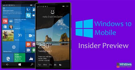 windows 10 insider tutorial install windows 10 mobile preview insider preview bing images