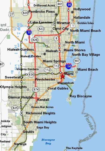 map of miami florida miami attractions miami hotels