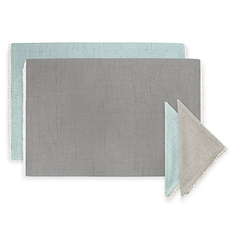 bed bath and beyond napkins lenox 174 french perle solid napkins and placemat bed bath