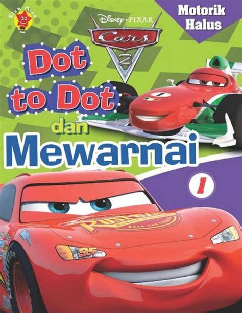 Buku Mewarnai Anak Cars bukukita motorik halus cars dot to dot dan mewarnai 1