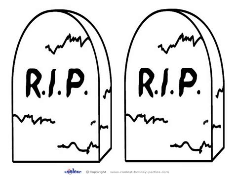 medium printable b w gravestone coolest free printables